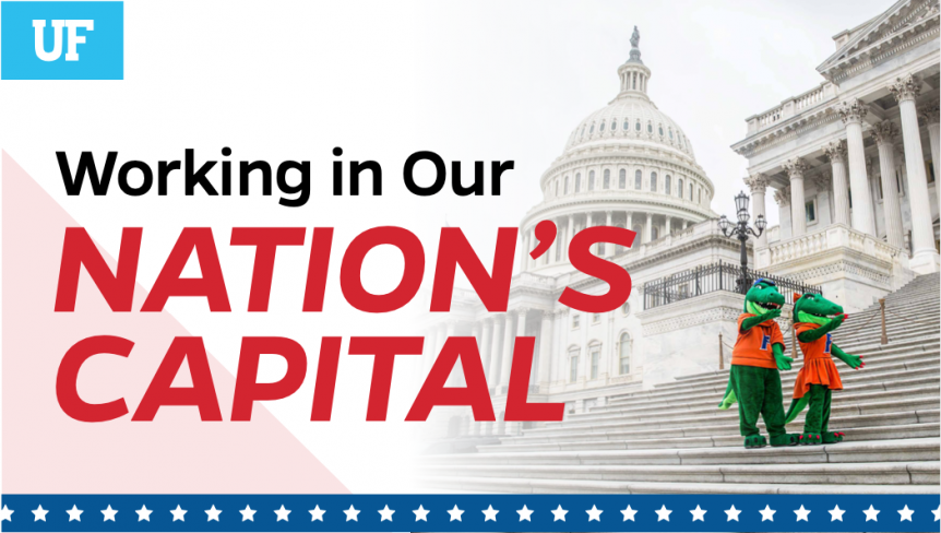 """A flyer for the event that says """"Working in our Nation's Capital"""""""