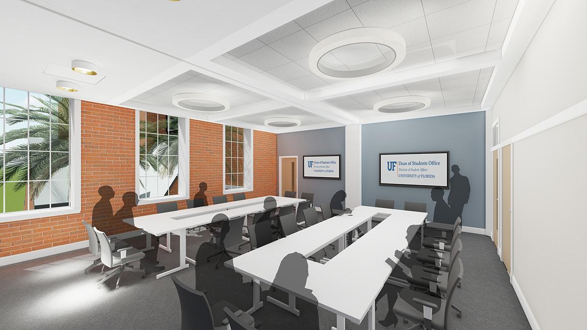 A digital rendering of renovations