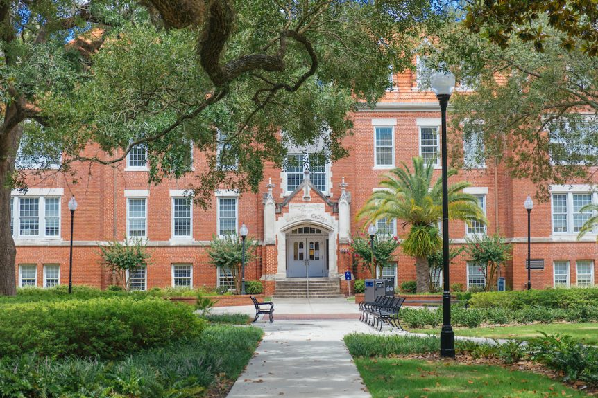 A building on UF's campus