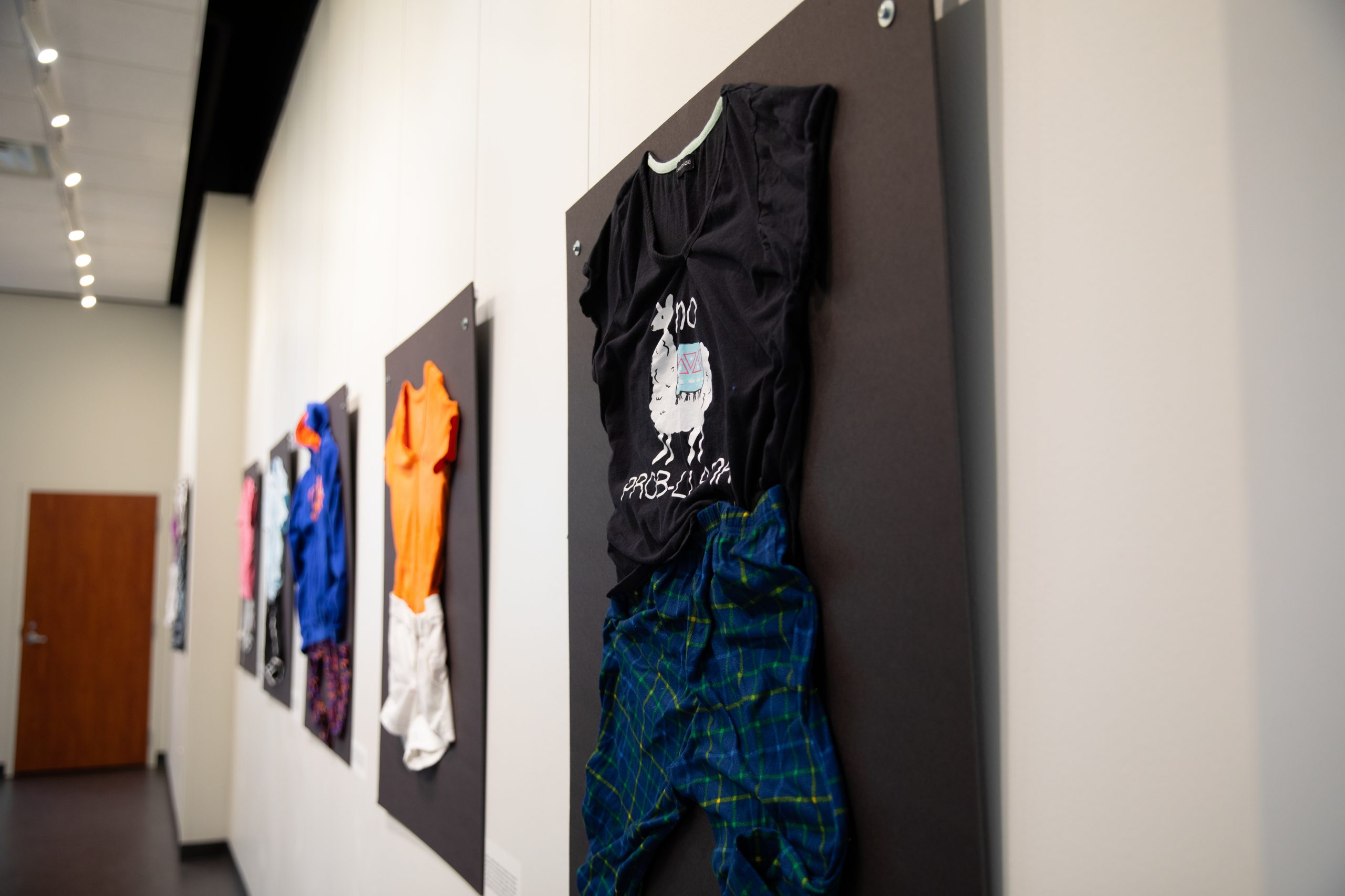 Clothing in an art gallery