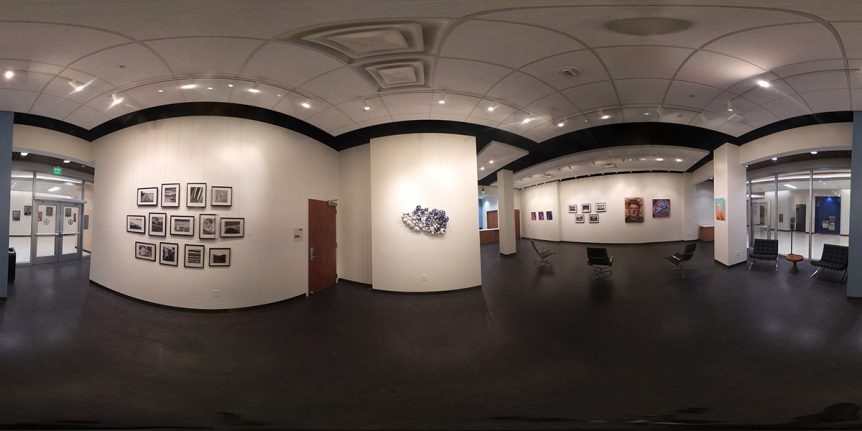A 360-degree view of an art gallery