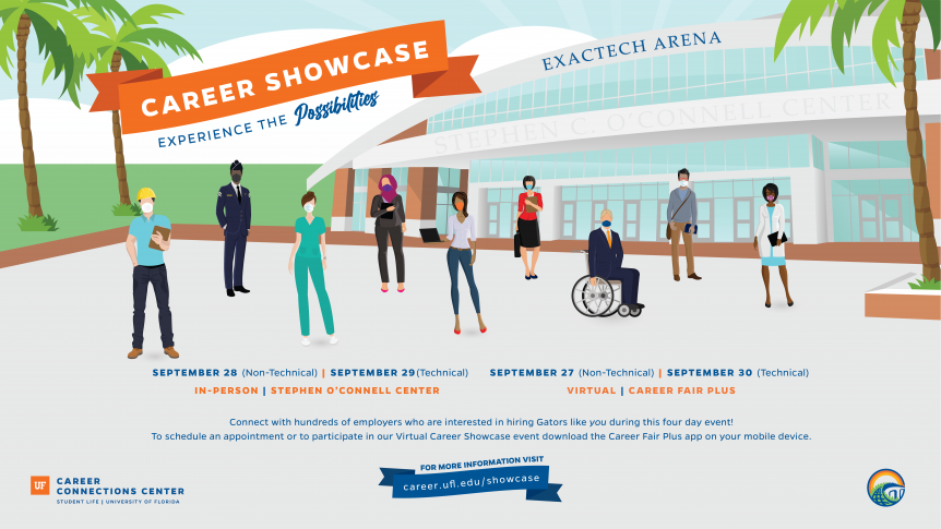 A flyer for Career Showcase
